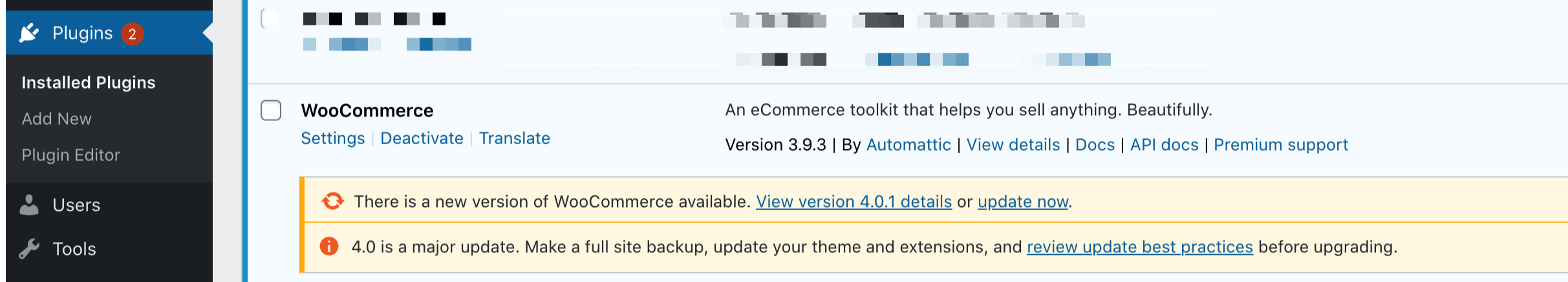 If you recently updated WooCommerce, you might have spotted a notice like this on your Plugins page.
